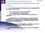 entrada en vigor del itu caracteristicas y derogacion de la lia2