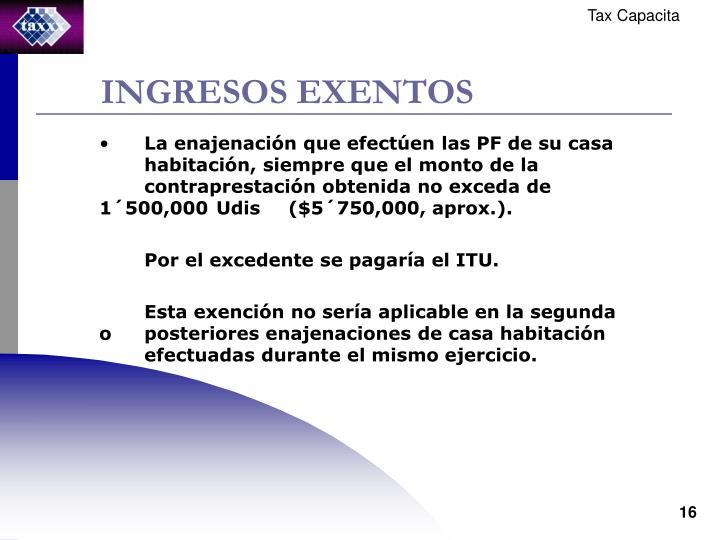INGRESOS EXENTOS