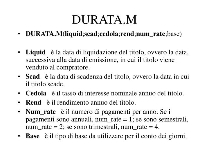 DURATA.M