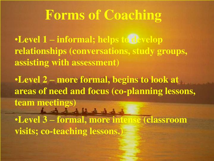 Forms of Coaching
