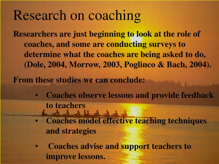 Research on coaching