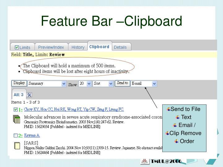 Feature Bar