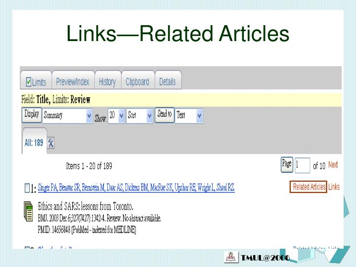 Links—Related Articles