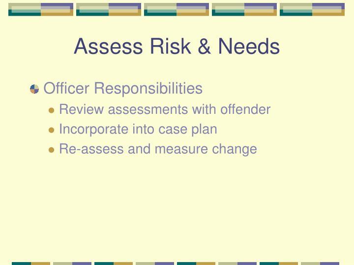 Assess Risk & Needs