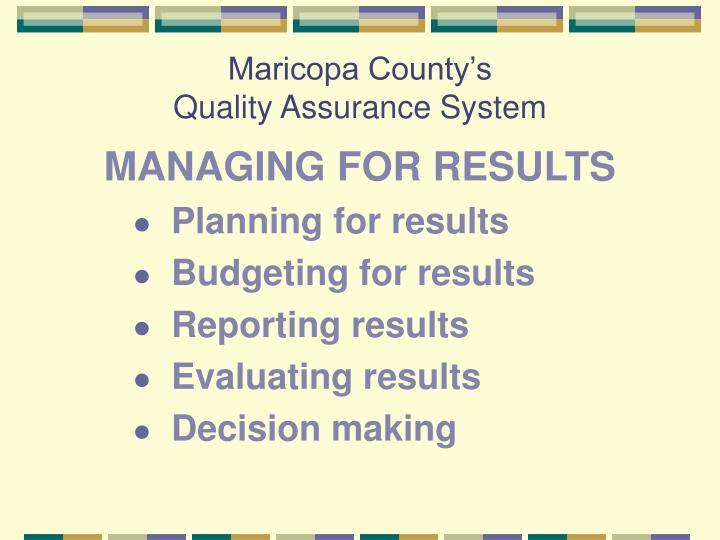 Maricopa County's