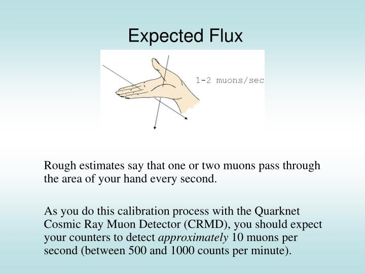 Expected flux