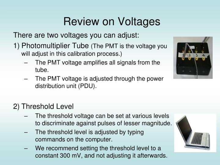 Review on voltages