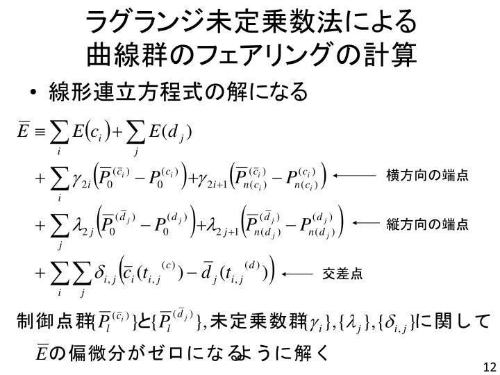 ラグランジ未定乗数法による