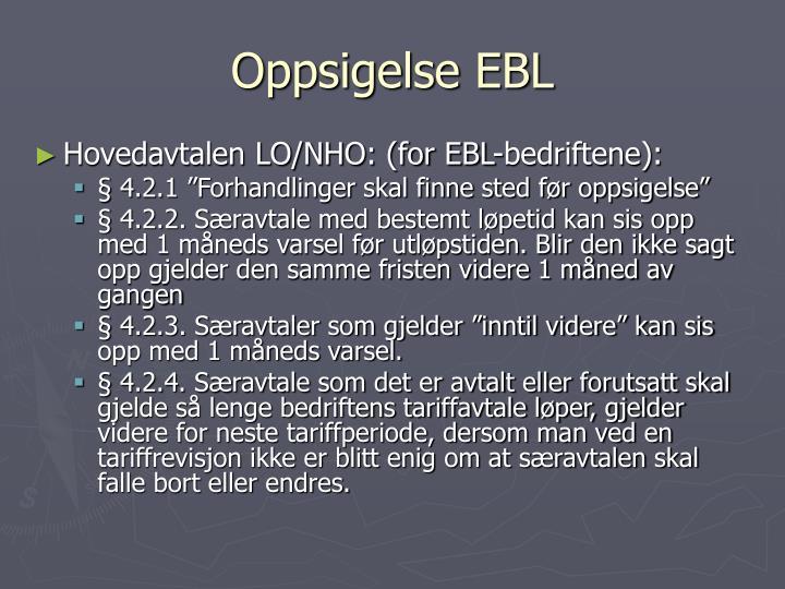 Oppsigelse EBL