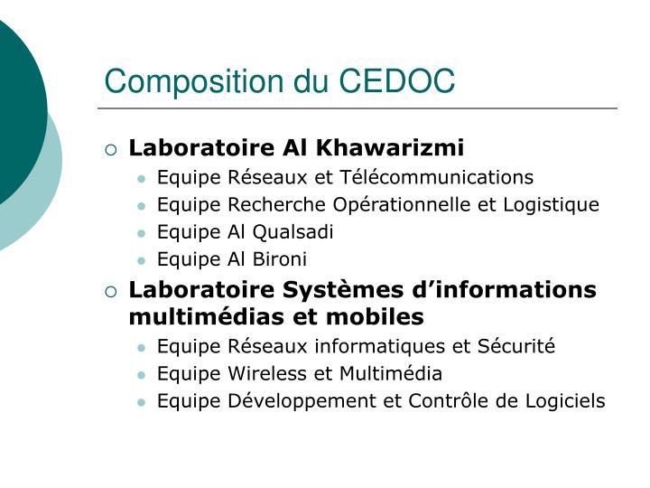 Composition du CEDOC
