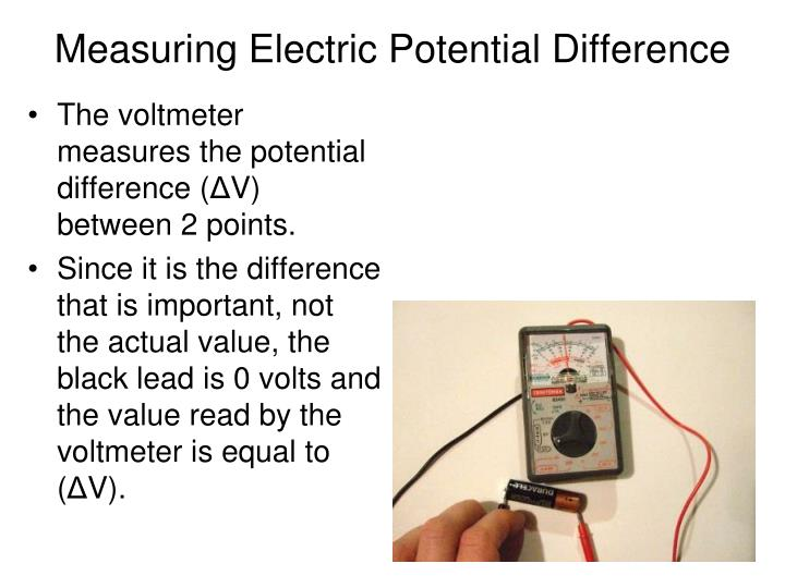 Measuring Electric Potential Difference