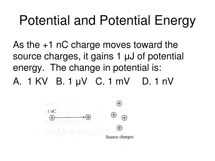 Potential and Potential Energy