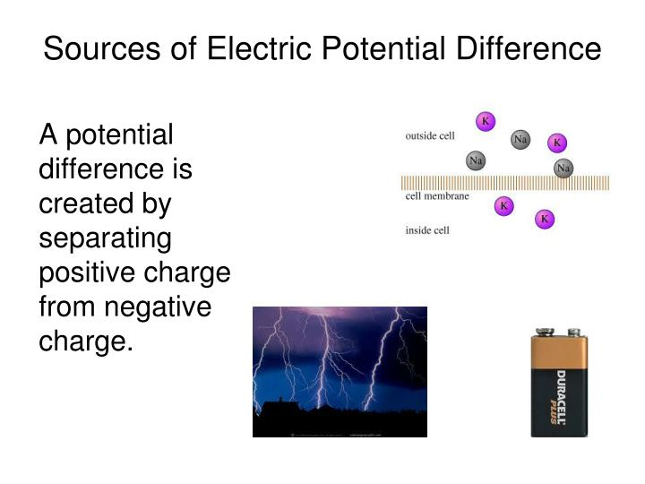 Sources of Electric Potential Difference