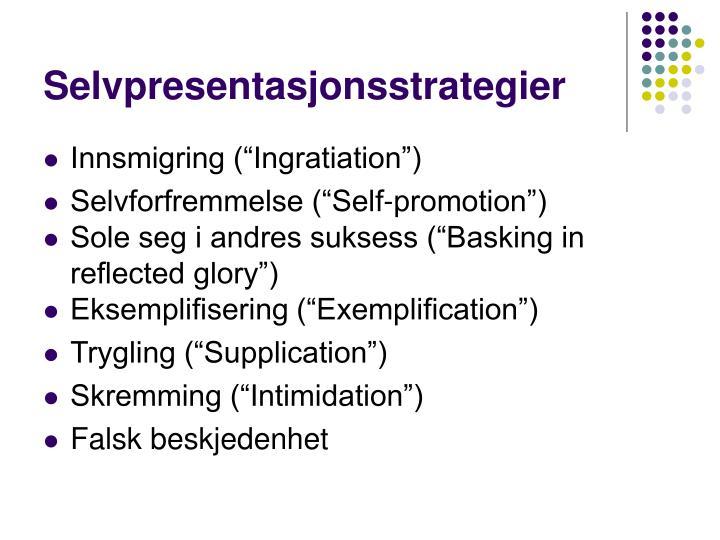 Selvpresentasjonsstrategier
