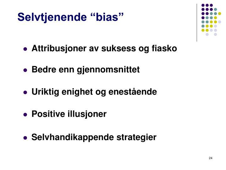 """Selvtjenende """"bias"""""""