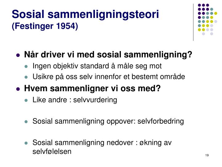Sosial sammenligningsteori