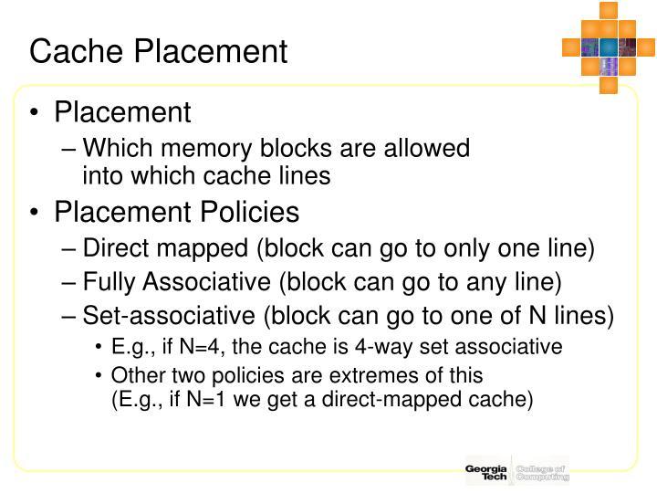 Cache Placement