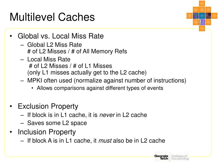 Multilevel Caches