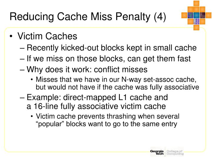 Reducing Cache Miss Penalty (4)