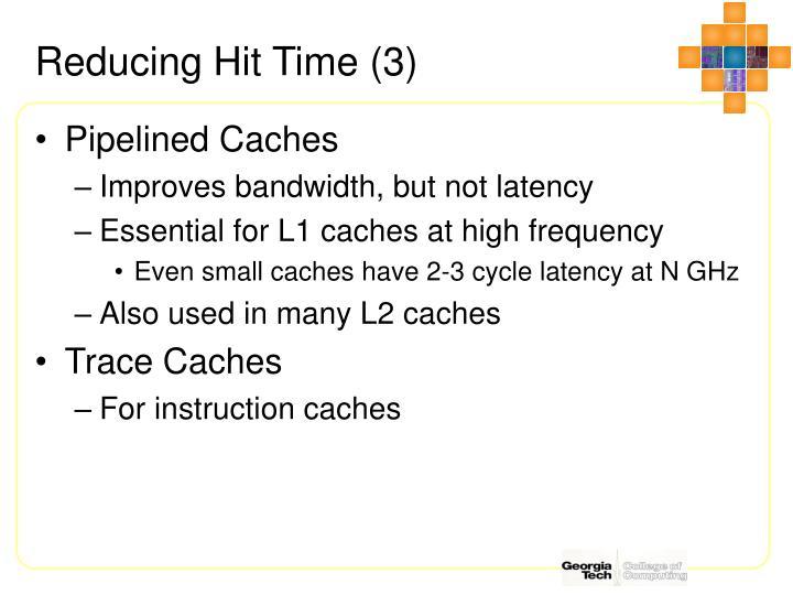 Reducing Hit Time (3)