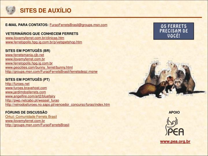 SITES DE AUXÍLIO