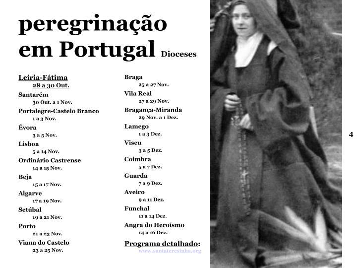 peregrinação  em Portugal