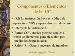 componentes o elementos de la uc1