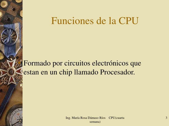 Funciones de la CPU