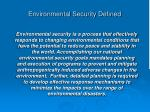 environmental security defined