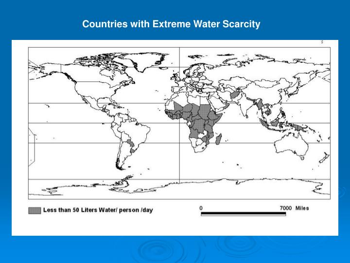 Countries with Extreme Water Scarcity