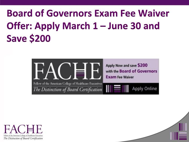 Board of Governors Exam Fee Waiver Offer: Apply March 1 – June 30 and Save $200