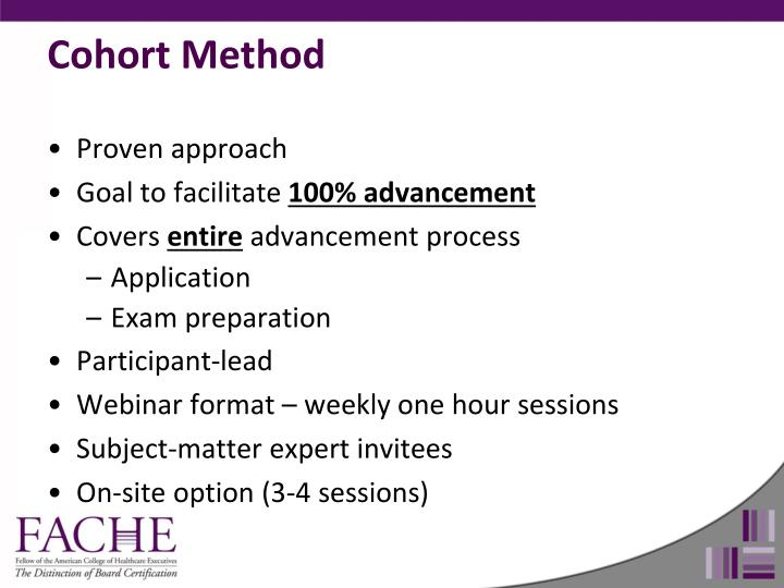 Cohort Method