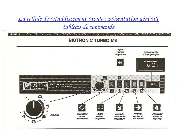 La cellule de refroidissement rapide : présentation générale