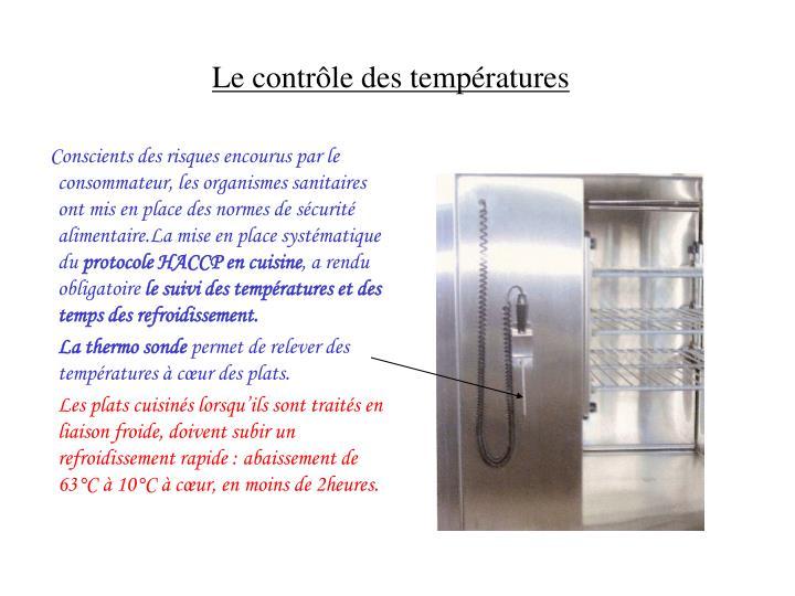 Le contrôle des températures