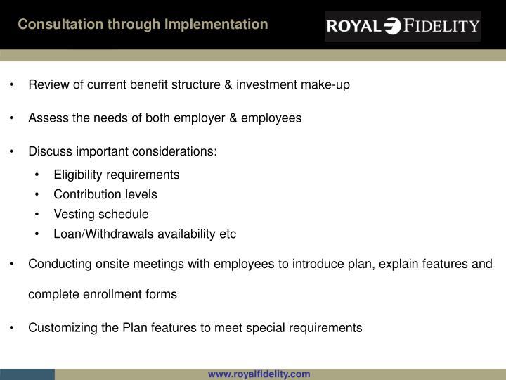 Consultation through Implementation