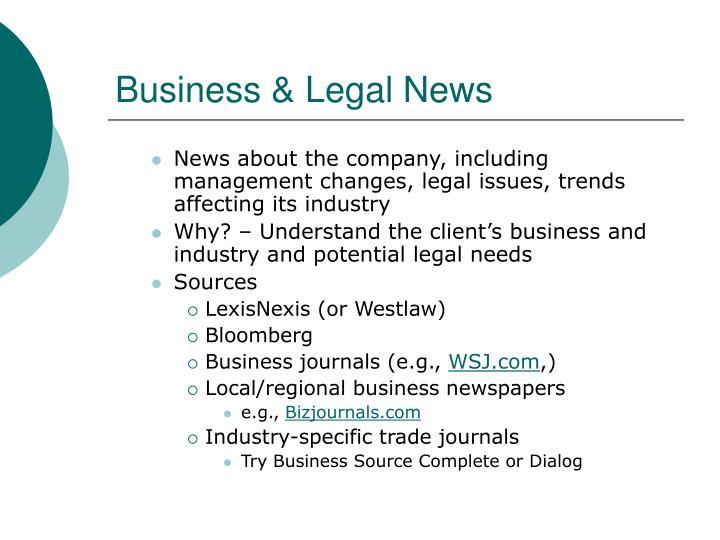Business & Legal News