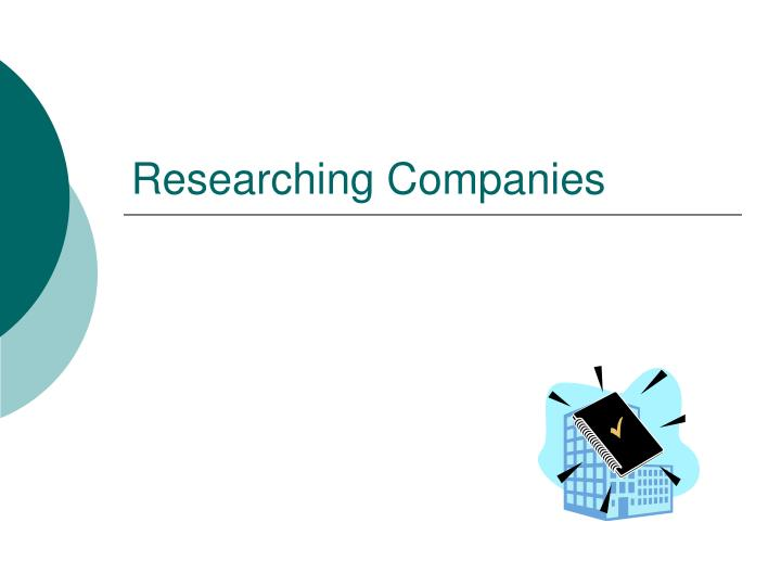 Researching Companies