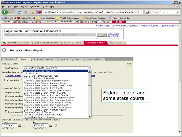 Federal courts and