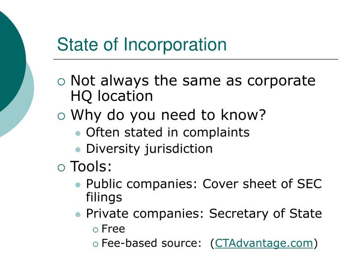 State of Incorporation
