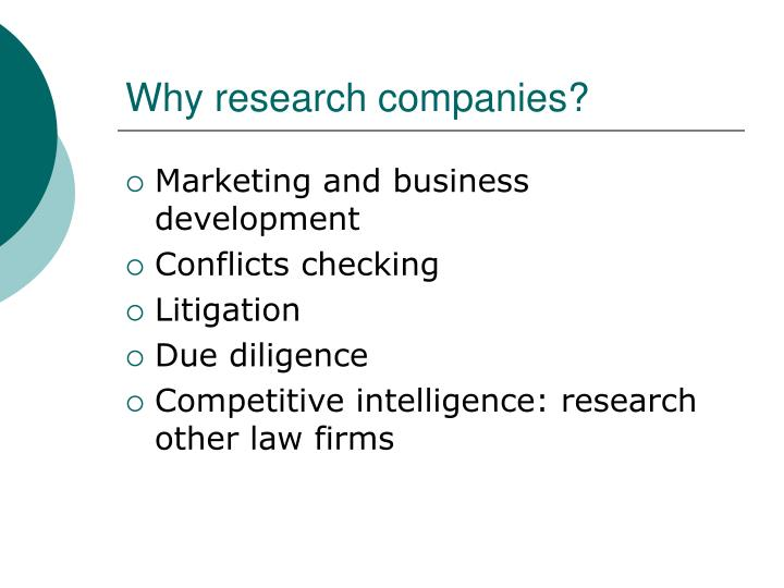 Why research companies?
