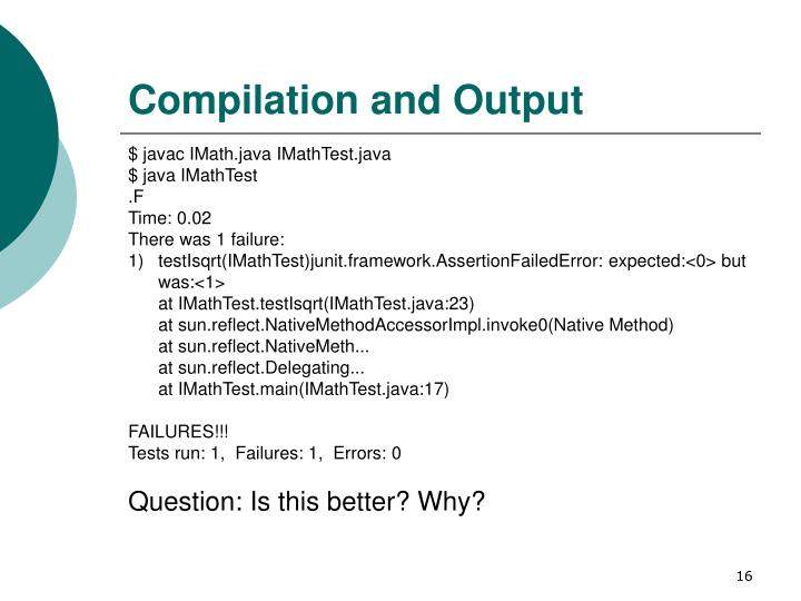 Compilation and Output