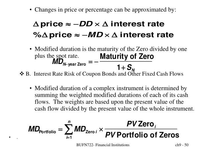 Changes in price or percentage can be approximated by: