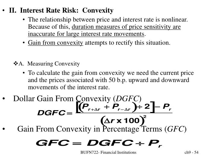 II.  Interest Rate Risk:  Convexity
