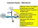 common faults web server