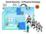 good security a physical analogy