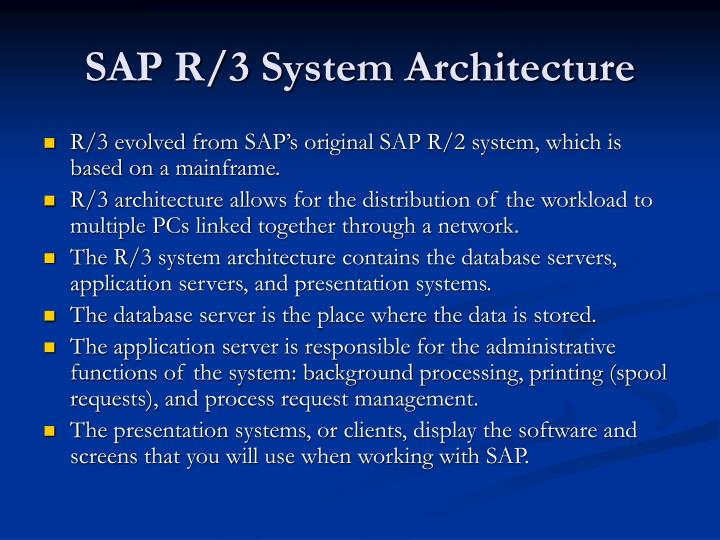SAP R/3 System Architecture