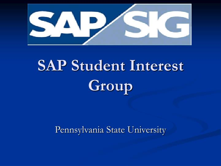 Sap student interest group