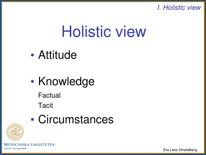 Holistic view