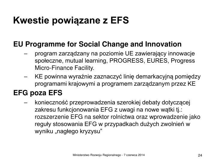 Kwestie powiązane z EFS