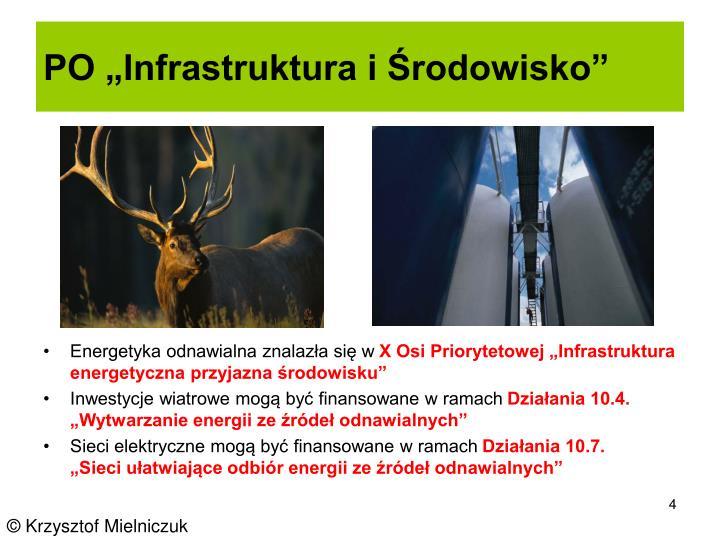 """PO """"Infrastruktura i Środowisko"""""""